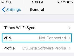 iphone vpn settings