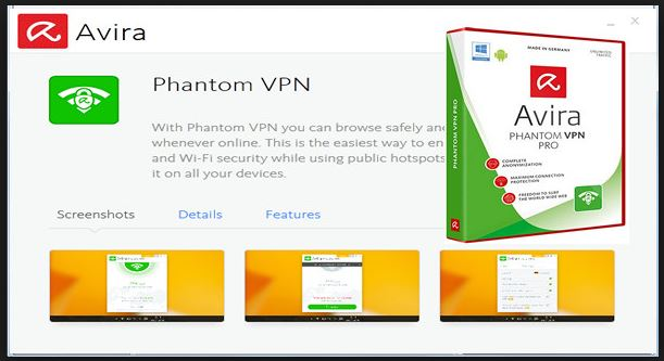 Avira Phantom VPN for windows 10