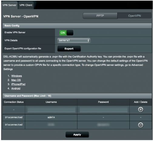 basic configuration for vpn router