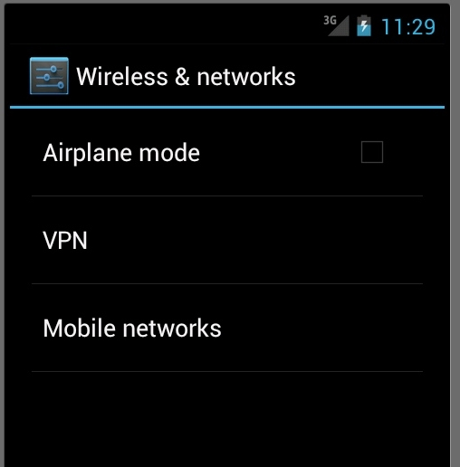 add vpn network on android