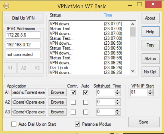 VPNetMon - vpn monitoring software
