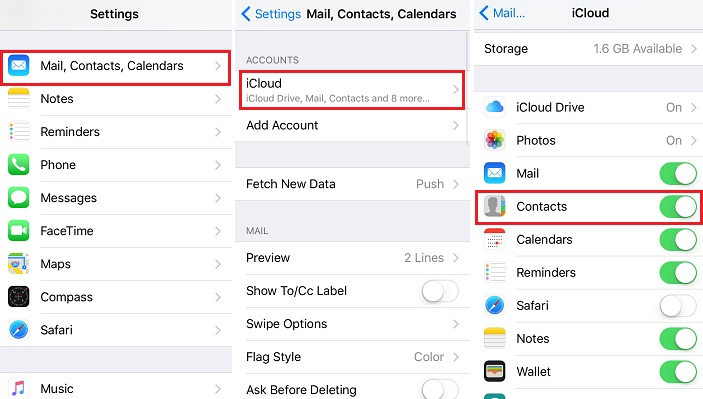 how to go to icloud settings on iphone