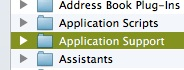 application support on mac
