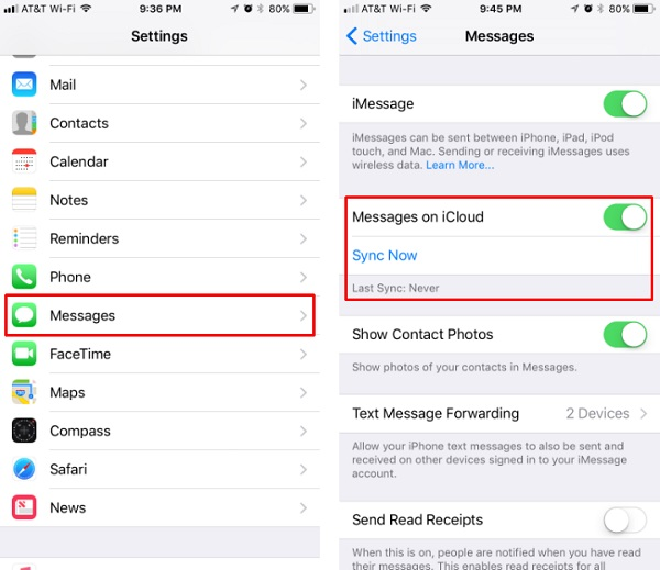 sincronizar mensagens do iphone para o computador