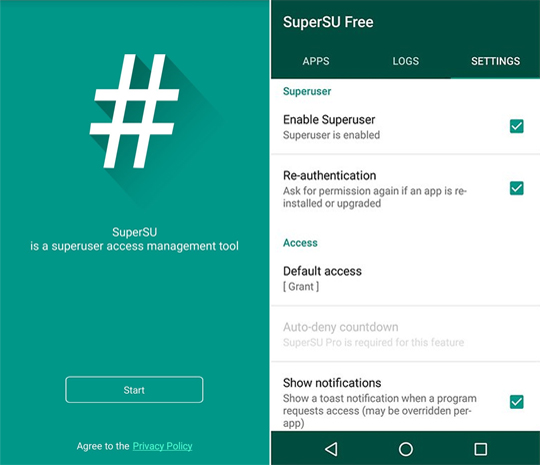 SuperSU installed