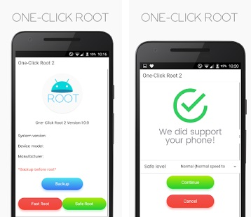 main screen of One Click Root
