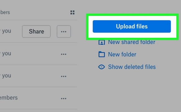 upload the video to dropbox