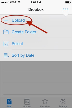 transfer videos from iPhone to computer using dropbox