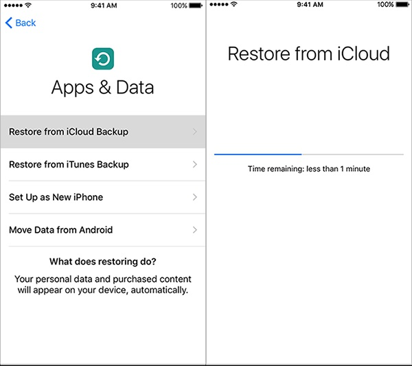 restore iphone apps from icloud backup