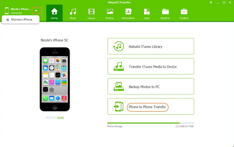 iphone文件管理器 -  iskysoft itransfer