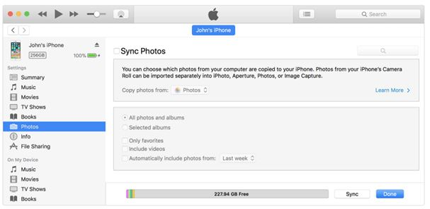 photos in itunes oeffnen