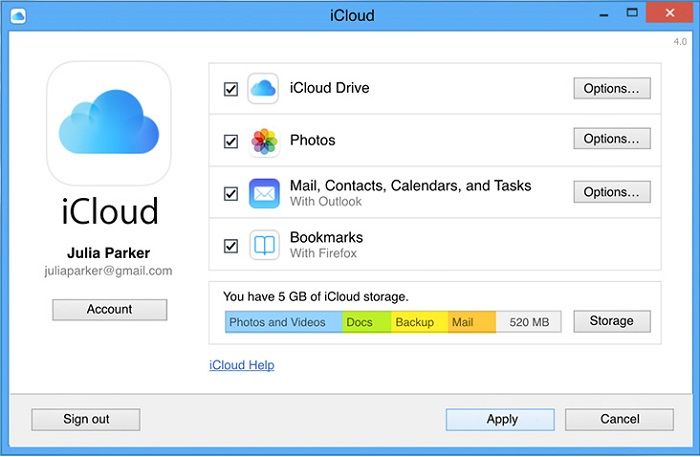 transfer iphone files with icloud