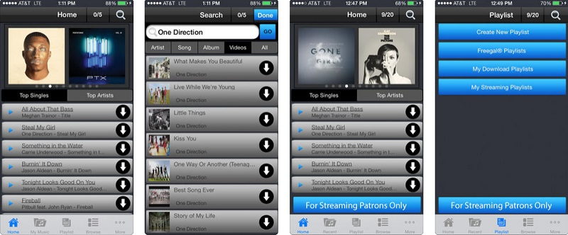 download songs on iphone with freegall music