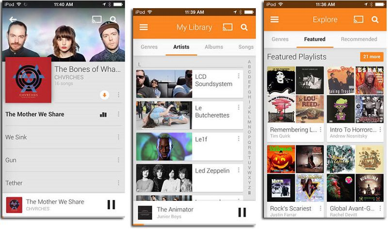 descarga canciones en iphone con google play music