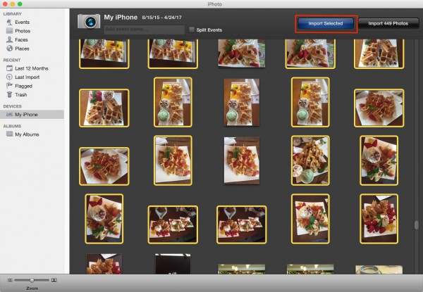 transfer iphone photos to laptop with iphoto