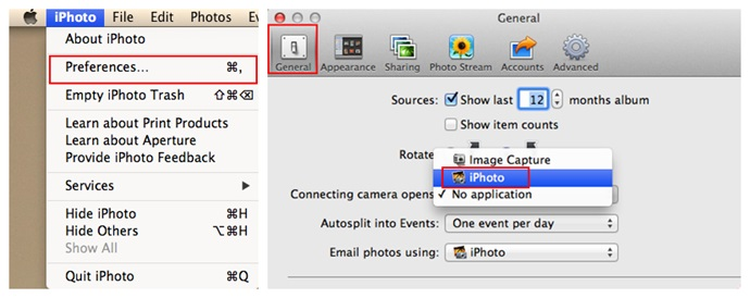 launch iphoto on mac