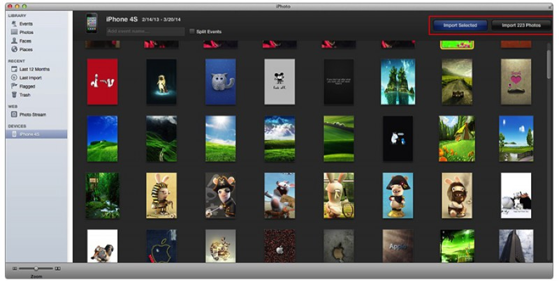 import iphone photos to mac with iphoto
