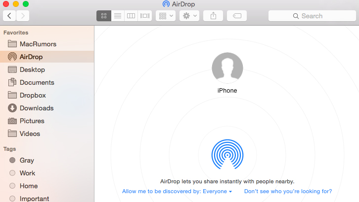 transfer photos from iphone to mac using airdrop