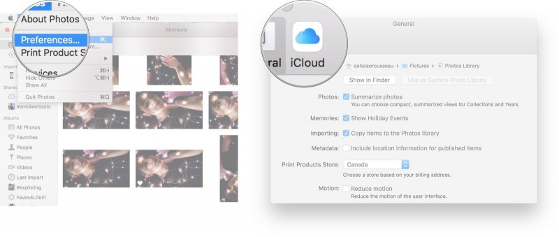 go to icloud photo library