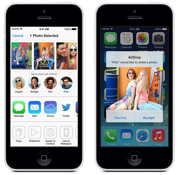 share ipad photos using airdrop