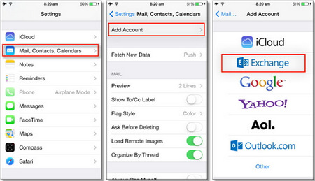 import contacts to iphone from outlook