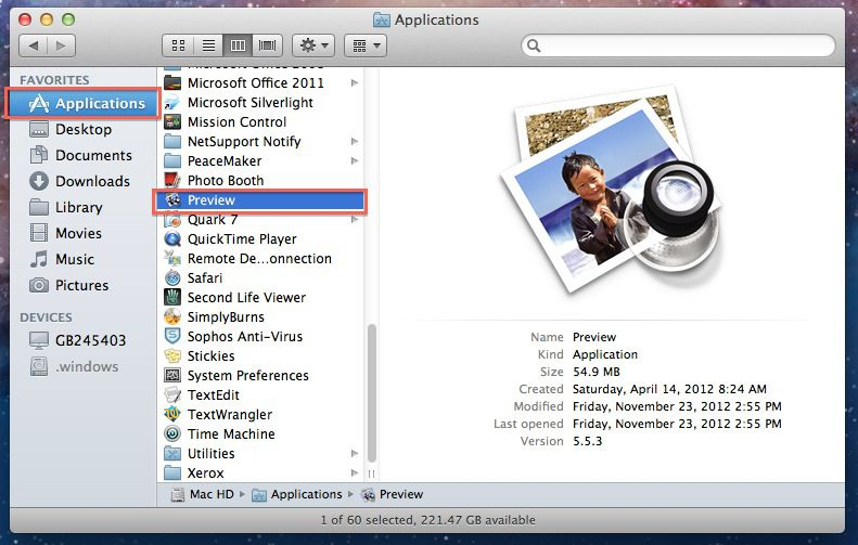 mac preview to import pictures