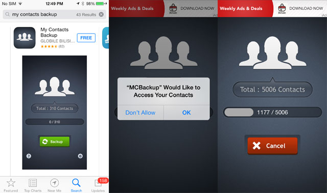 iphone transfer contacts to android using MC backup