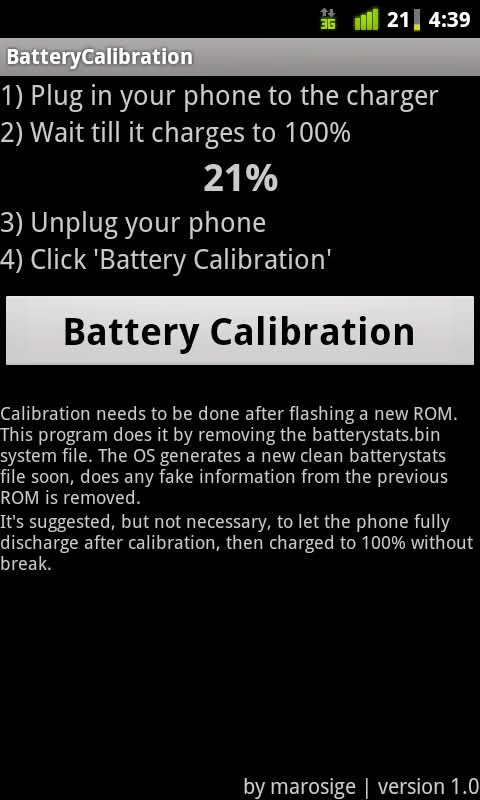 Top Android Root App: Battery Calibration
