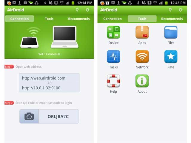 AirDroid sauvegarde téléphone android sur mac