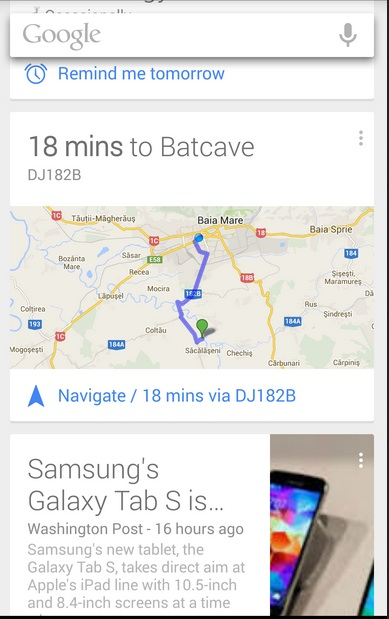 use google now to plan travel