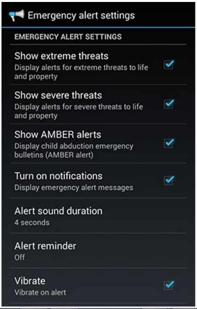 Turn Off and Turn On Emergency Alerts on Android Phones and