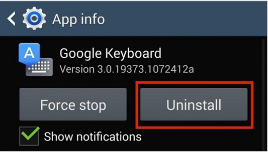 change android keyboard