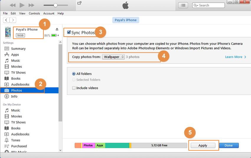 Importer du fond d'écran dans un iPhone