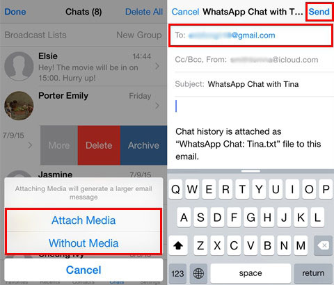 how to send my location on iphone top 3 ways to transfer whatsapp chats from iphone to 20303