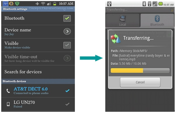 transfer contacts from htc to s9 using bluetooth
