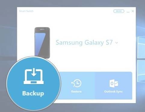 backup galaxy s9 to pc using smart switch
