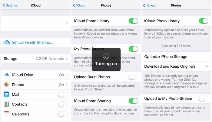 sync photos from mac to iphone using icloud photo library