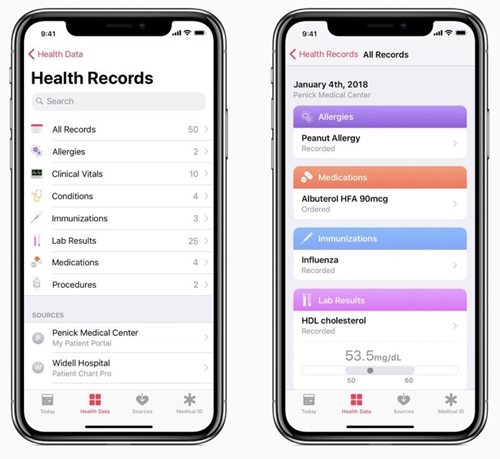 ios 11.3 health records