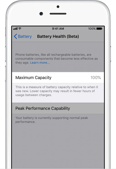 iphone battery maximum capacity