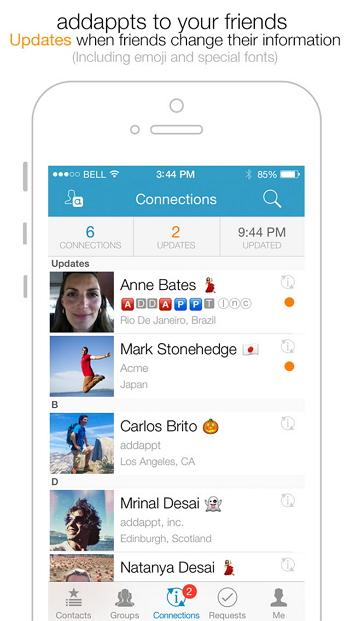 iPhone kontaktmanager - Addappt