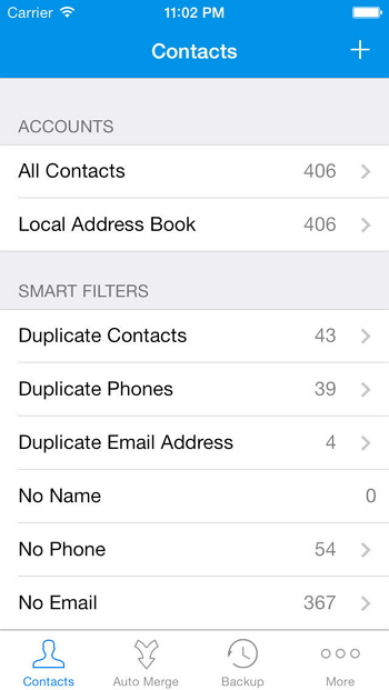 contact manager for iPhone - Contacts-Cleanup-Merge-Free
