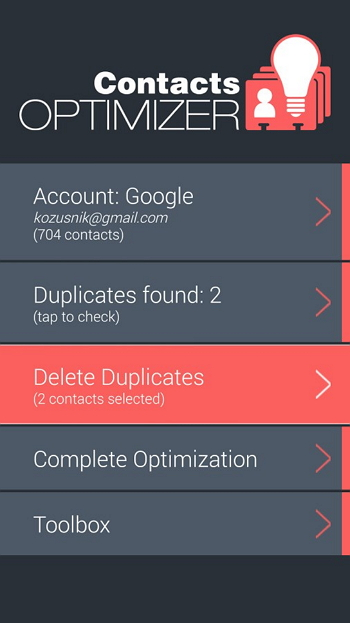 iPhone联系人经理 -  Contacts-Optimizer-Pro