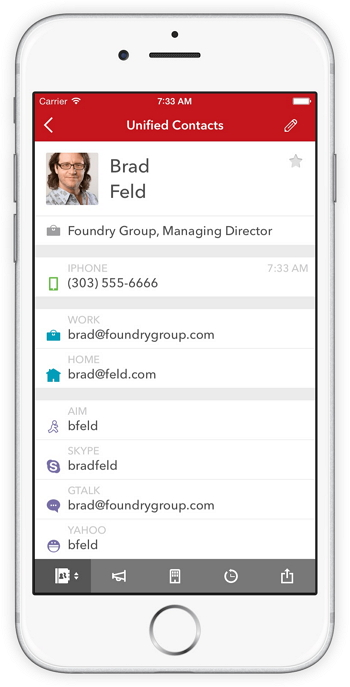 kontaktmanager für iPhone - FullContact