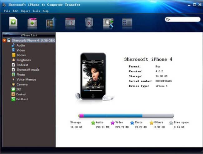 3herosoft iPhone to Computer Transfer
