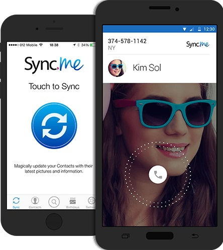 iPhone kontaktmanager - Sync.Me