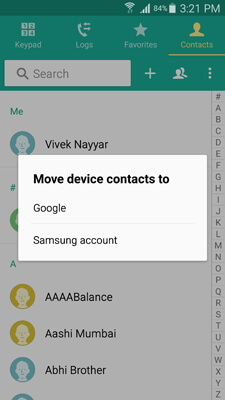 backup s9 contacts to gmail