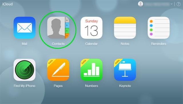 Sauvegarder les contacts d'iCloud