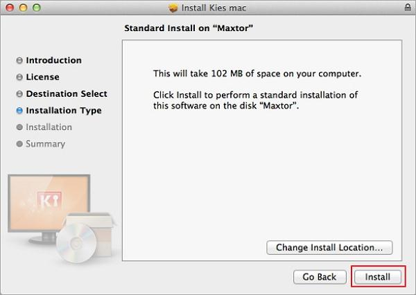 download and install kies for mac-Change Install Location