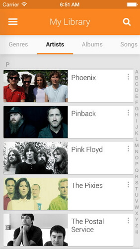 download music on iphone from google music