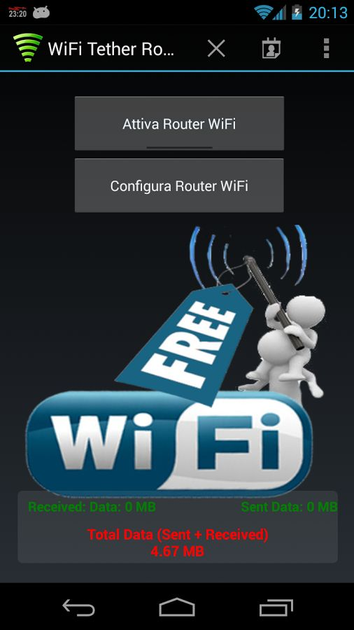 Free Wifi hotspot apps Wifi tether